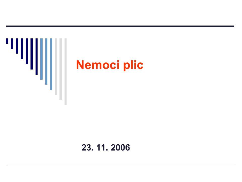23. 11. 2006 Nemoci plic