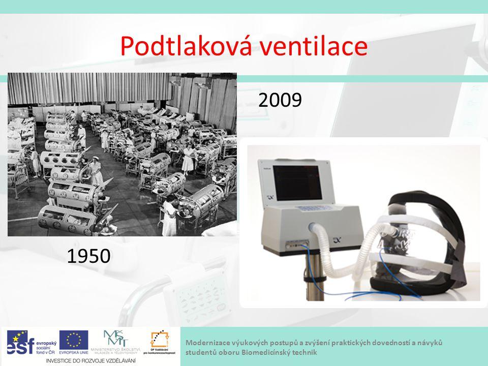 Modernizace výukových postupů a zvýšení praktických dovedností a návyků studentů oboru Biomedicínský technik Podtlaková ventilace 2009 1950