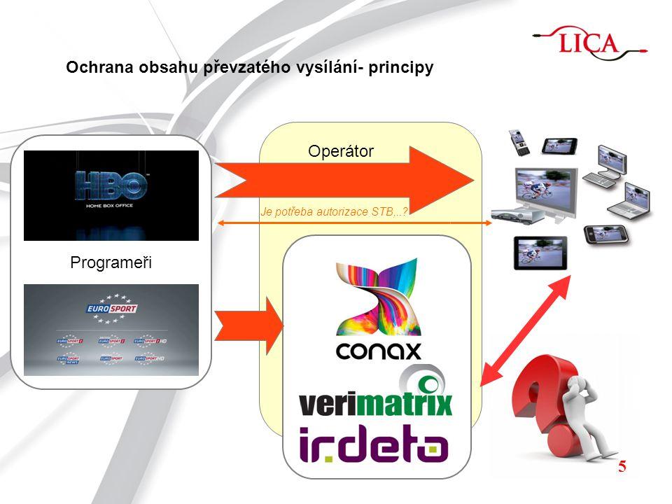 Typy přenosu převzatého vysílání DVB-T/T2 DVB-C/C2 DVB-H IPTV OTT 6 Lineární vysílání Nelineární vysílání