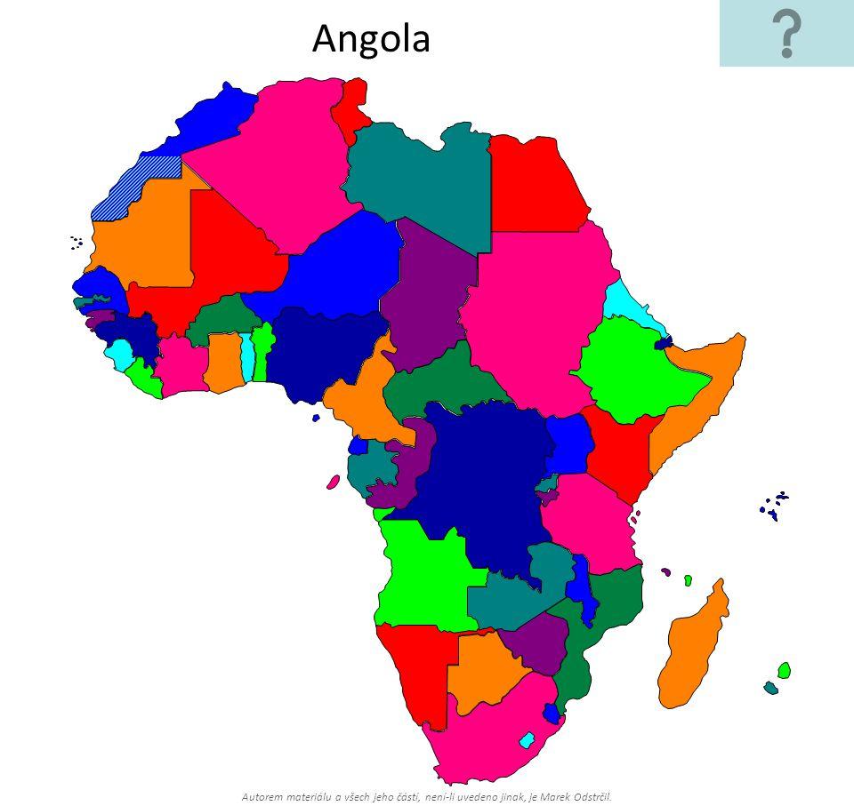Autorem materiálu a všech jeho částí, není-li uvedeno jinak, je Marek Odstrčil. Angola
