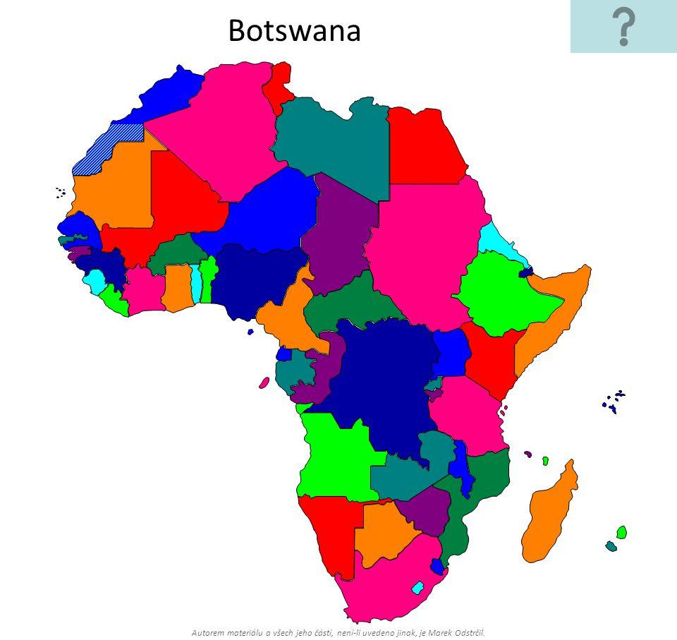 Autorem materiálu a všech jeho částí, není-li uvedeno jinak, je Marek Odstrčil. Botswana