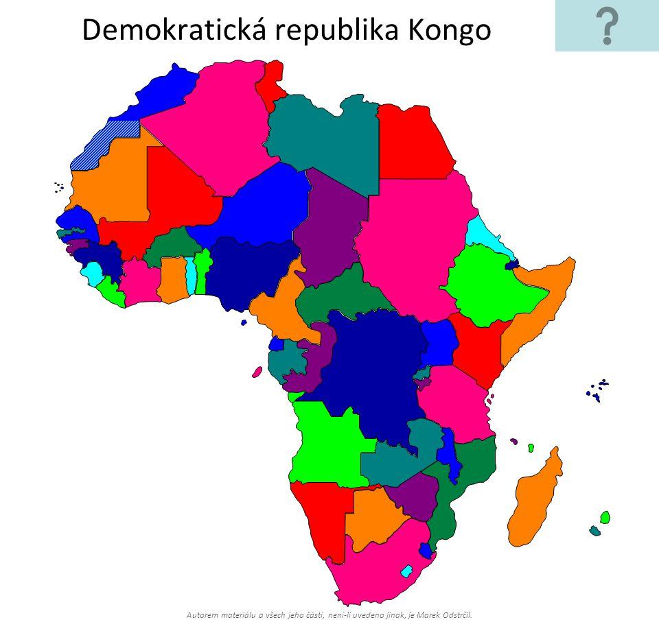 Autorem materiálu a všech jeho částí, není-li uvedeno jinak, je Marek Odstrčil. Demokratická republika Kongo