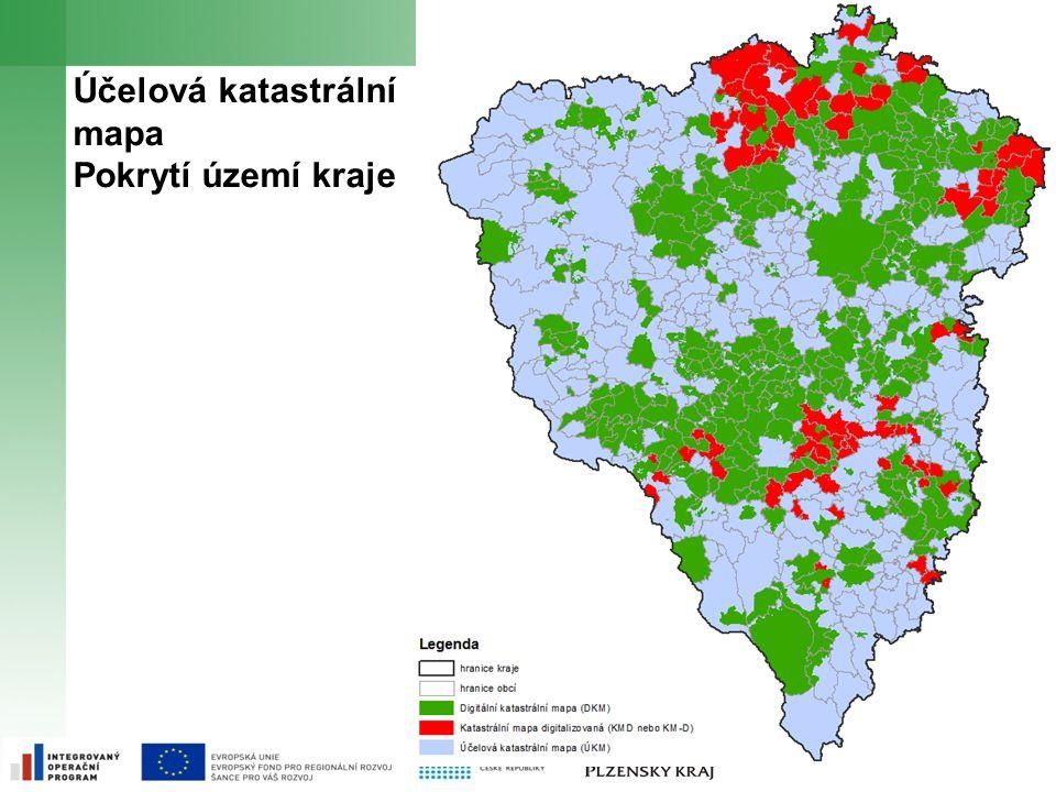 Účelová katastrální mapa Pokrytí území kraje