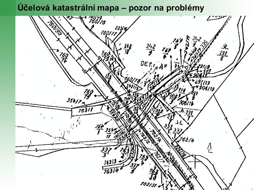 Účelová katastrální mapa – pozor na problémy