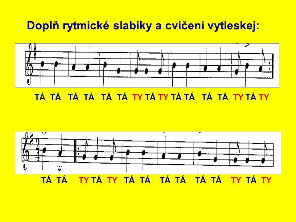 I v této známé písni je synkopa. Najdeš ji?