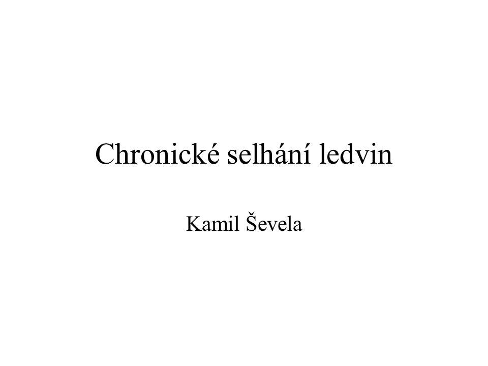Chronické selhání ledvin Kamil Ševela