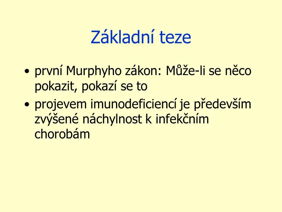 Základní teze první Murphyho zákon: Může-li se něco pokazit, pokazí se to projevem imunodeficiencí je především zvýšené náchylnost k infekčním chorobá