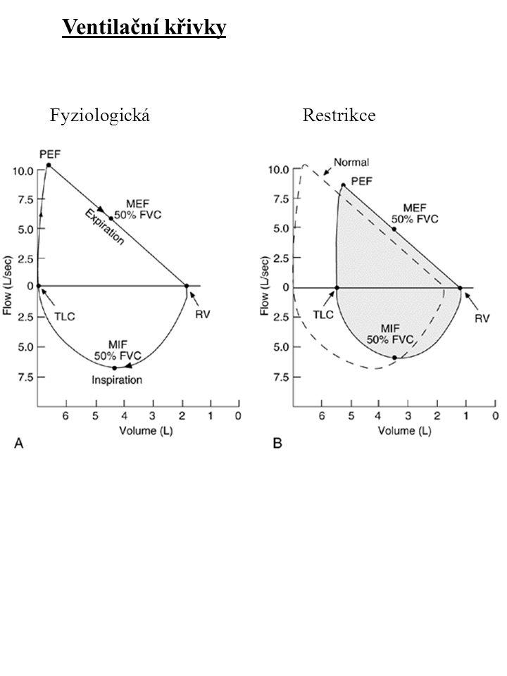 Ventilační křivky FyziologickáRestrikce