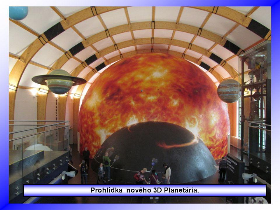 Prohlídka nového 3D Planetária.