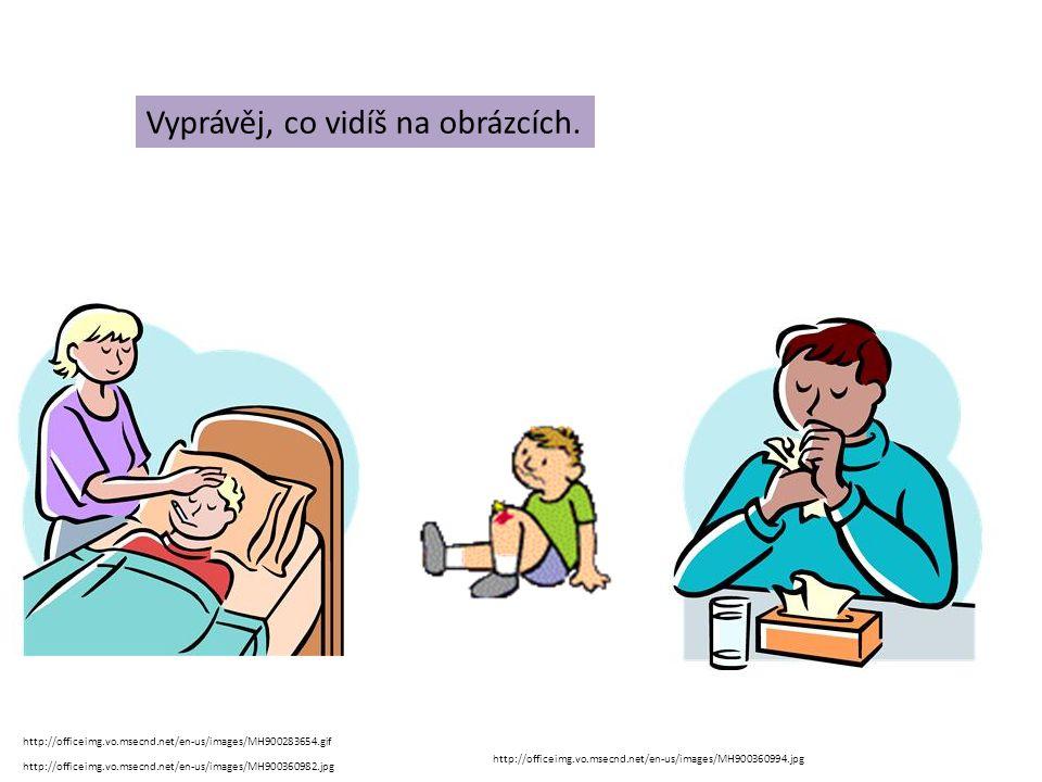angína chřipka neštovice černý kašel zlomená rukavymknutý kotník otřes mozku popálenina žloutenka omrzlina Označ, co je úraz a co nemoc.