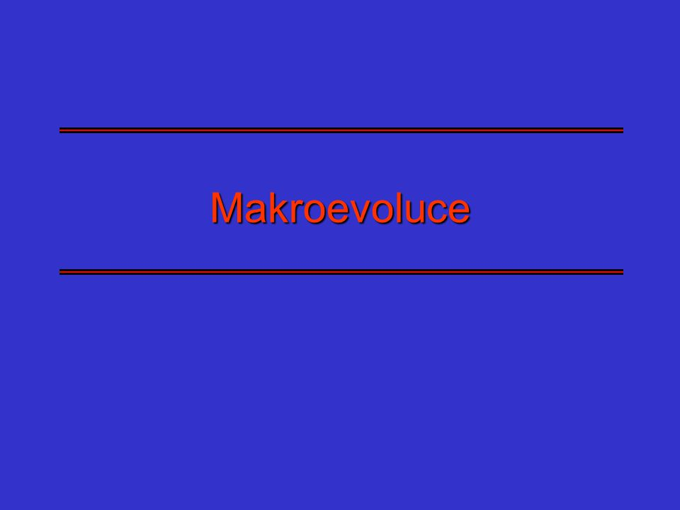 Měření rychlosti vývoje kvantitativního znaku Darwin - změna rozměru o jednonásobek základu přirozeného logaritmu (2,7182) za milion let (lze porovnávat různě velké organismy, nelze porovnávat objemové a délkové rozměry, nelze měřit na intervalové škále) Haldane - změna velikosti znaku o jednu směrodatnou odchylku za generaci – zohledňuje variabilitu, takže lépe odráží odpovědi znaku na selekční tlak Vhodné uvádět obě rychlosti