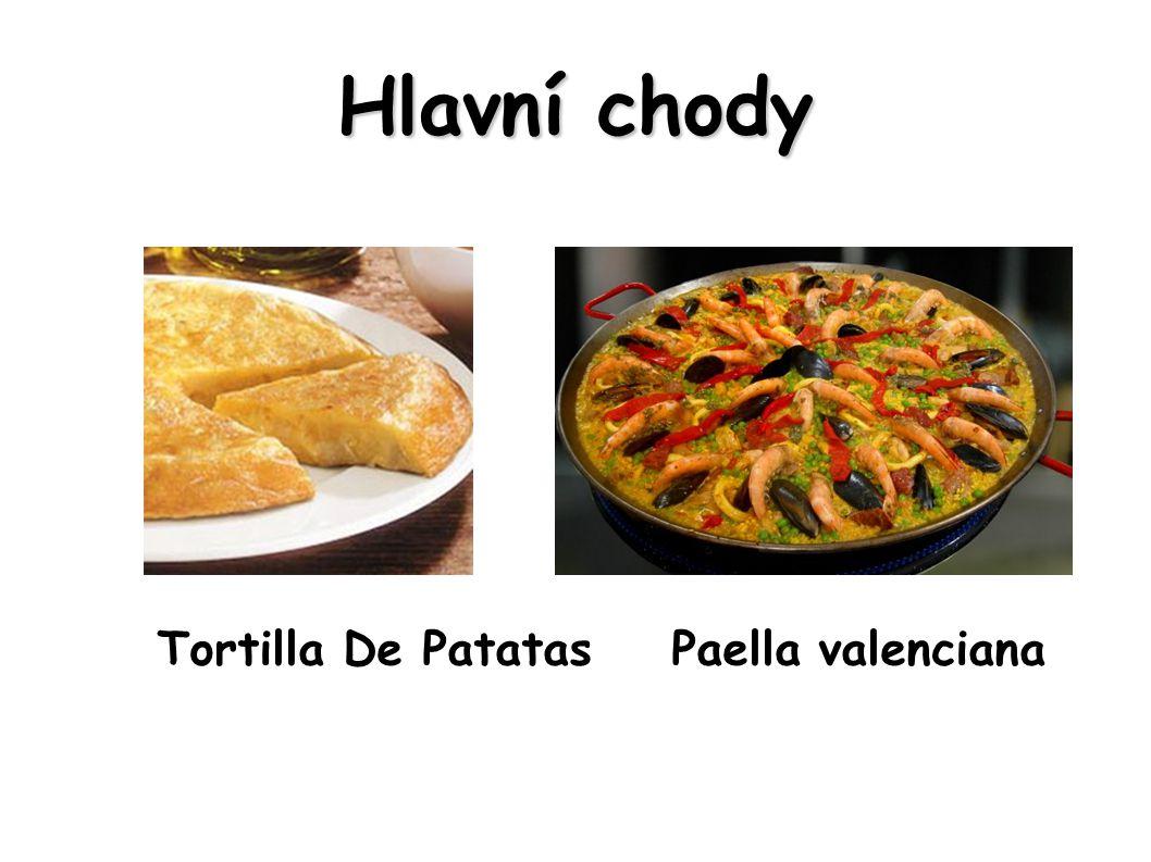 Hlavní chody Tortilla De Patatas Paella valenciana