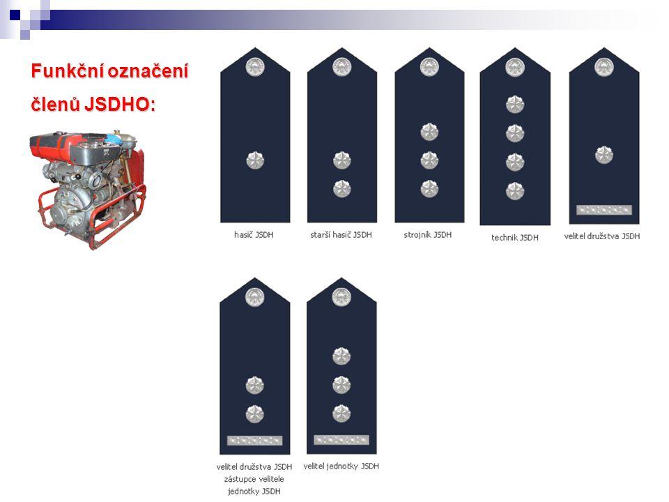Funkční označení členů JSDHO:
