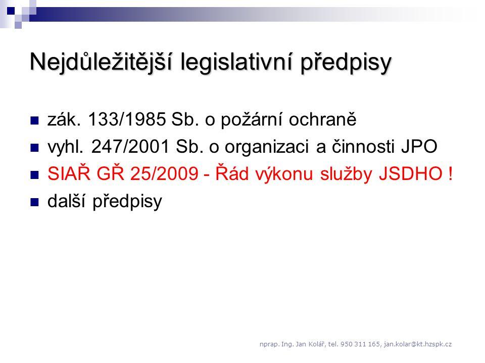 3 složky na úseku požární ochrany: 1.stát (HZS ČR) 3.