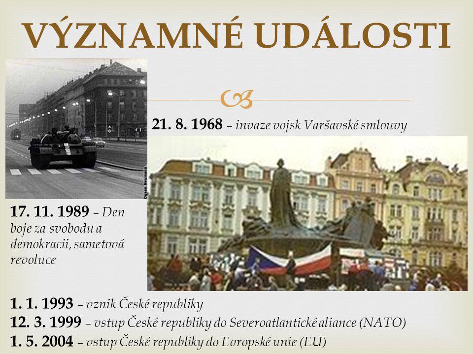  VÝZNAMNÉ DNY 28.9. – Den české státnosti, zavraždění knížete Václava (935) 1.