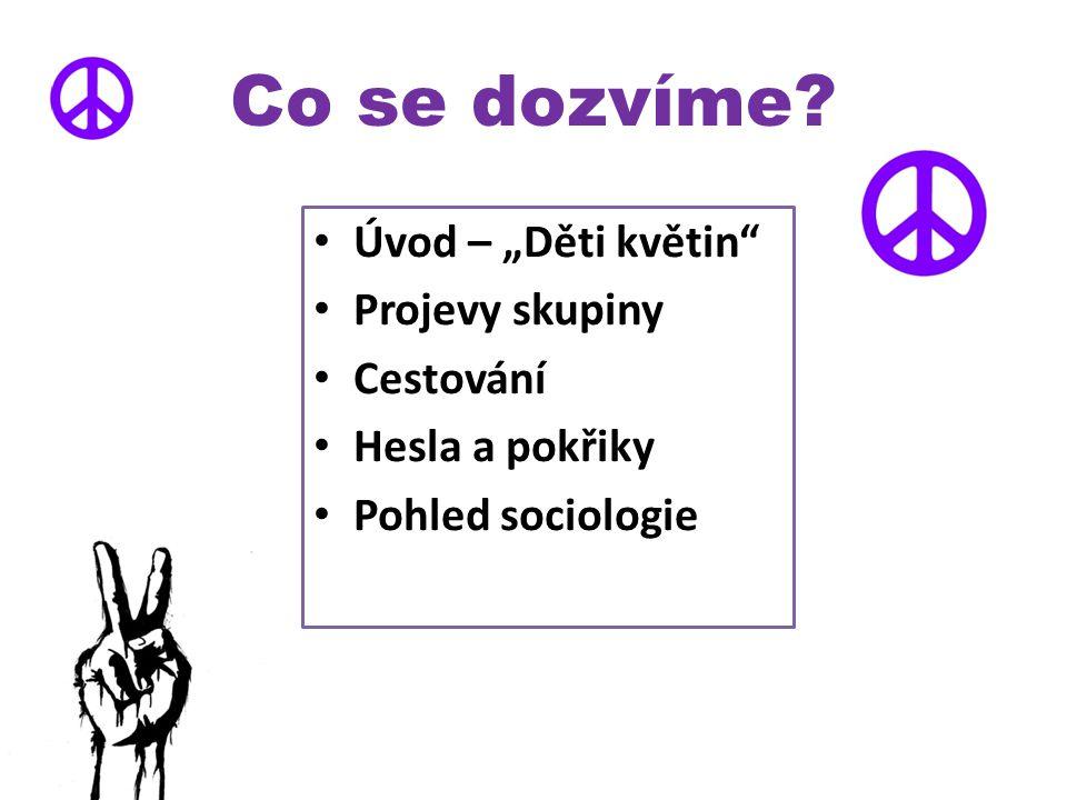 """""""Děti květin hnutí, vznik – 60.léta 20. stol."""