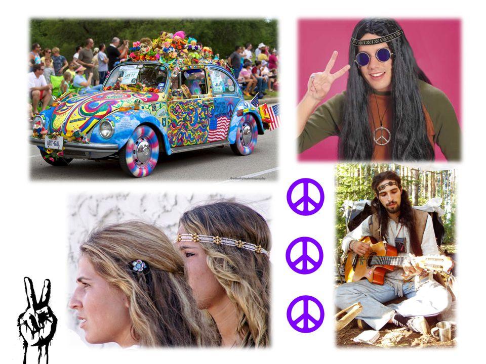 Cestování výrazným rysem hippie kultury školní autobusy VW Bus (Volkswagen typ 1) - přemalovány členy, na zakázku jízda stopem – životní prostředí Renesanční trhy festival Woodstock