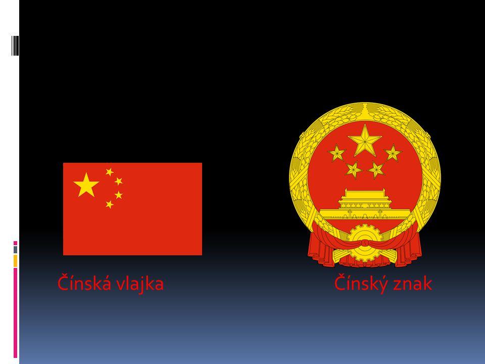 Čínská vlajka Čínský znak
