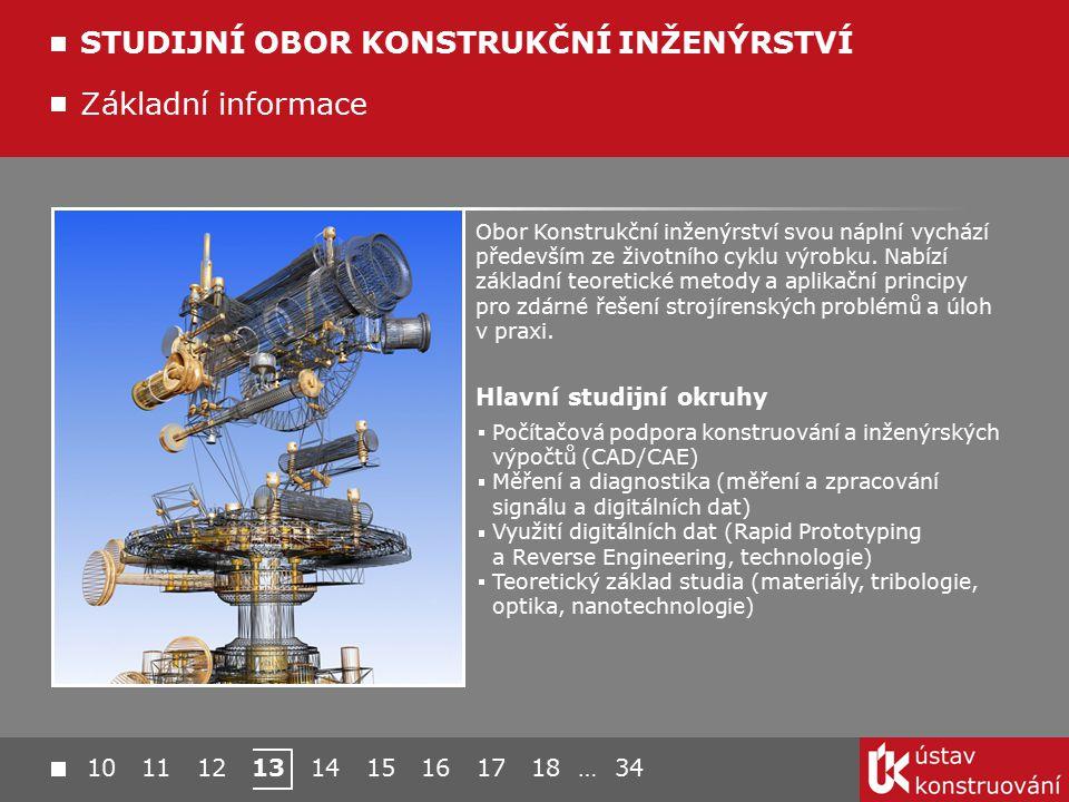 10 11 12 13 14 15 16 17 18 … 34 Základní informace STUDIJNÍ OBOR KONSTRUKČNÍ INŽENÝRSTVÍ Obor Konstrukční inženýrství svou náplní vychází především ze