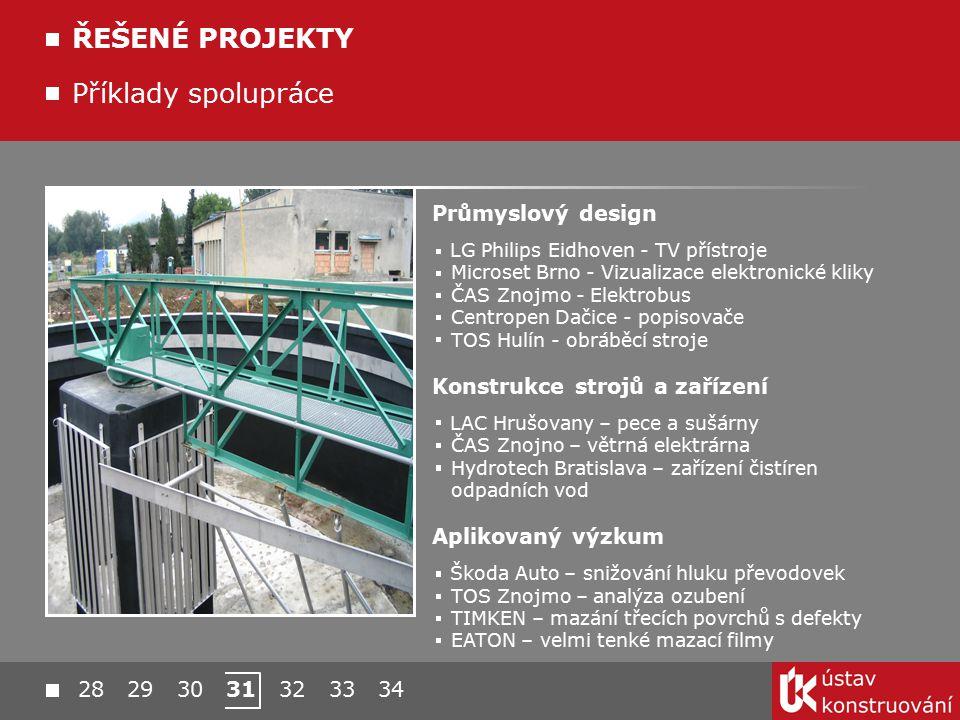 Příklady spolupráce ŘEŠENÉ PROJEKTY Průmyslový design LG Philips Eidhoven - TV přístroje Microset Brno - Vizualizace elektronické kliky ČAS Znojmo - E