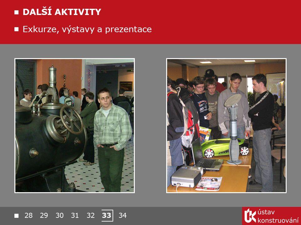 28 29 30 31 32 33 34 Exkurze, výstavy a prezentace DALŠÍ AKTIVITY