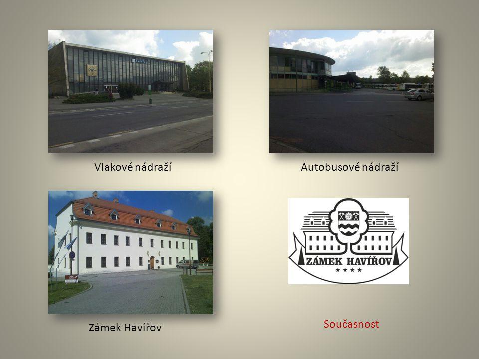 Vlakové nádražíAutobusové nádraží Zámek Havířov Současnost
