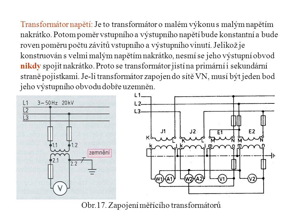 Otázky ke zkoušení 1)Jaké jsou měřící (přístrojové) transformátory .