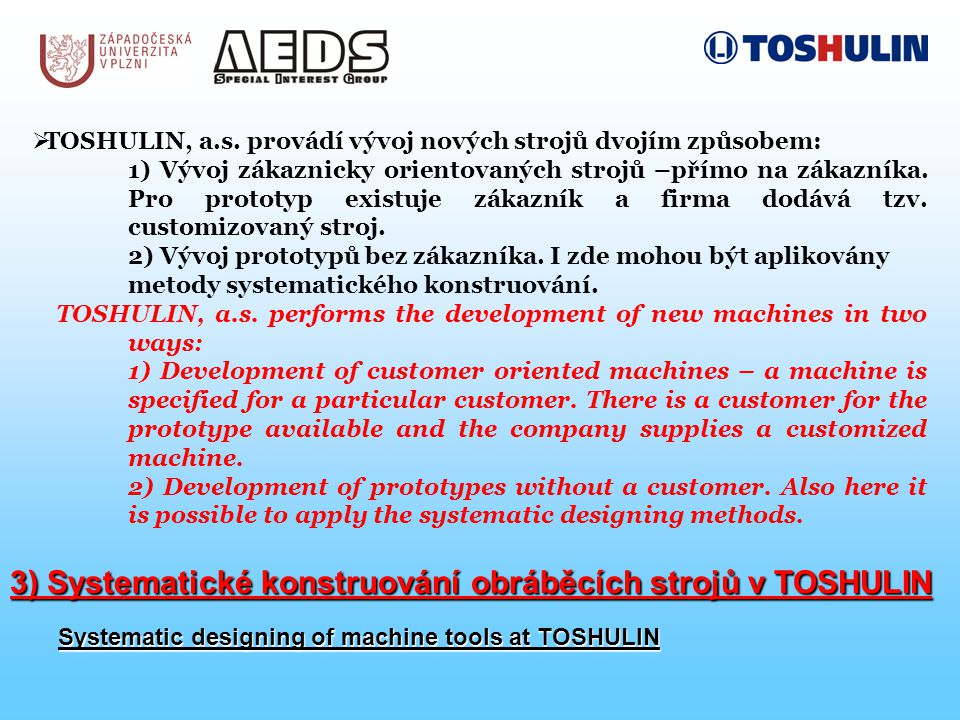  TOSHULIN, a.s.