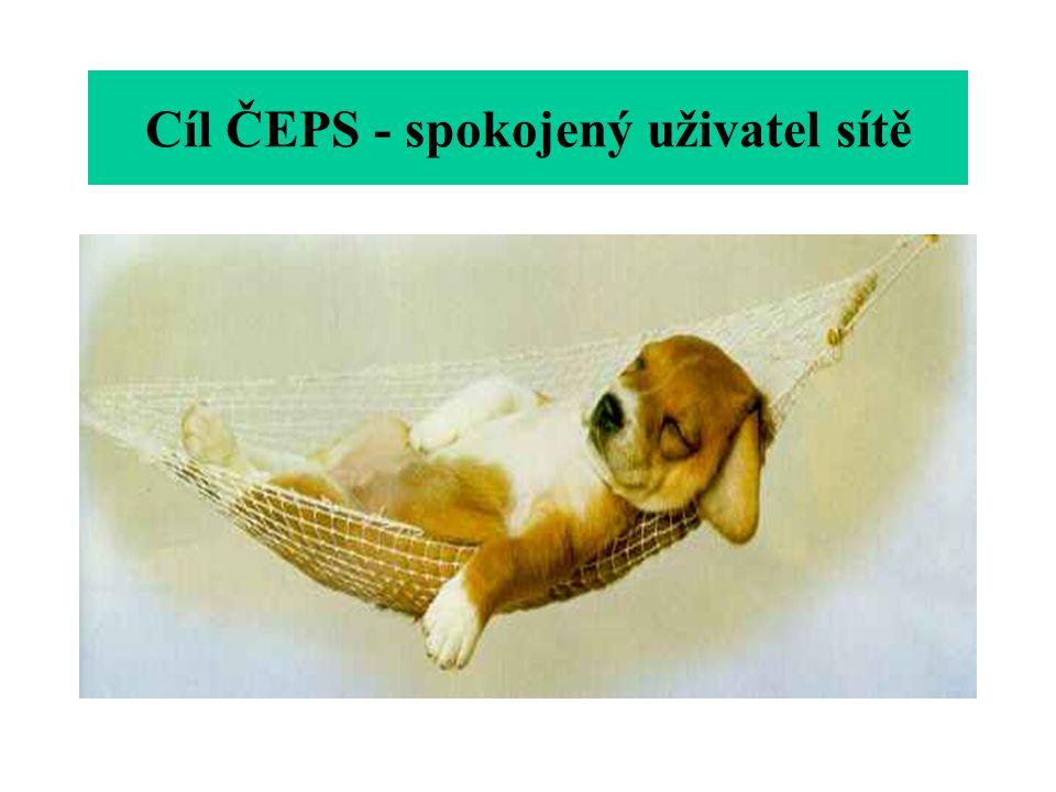 Cíl ČEPS - spokojený uživatel sítě
