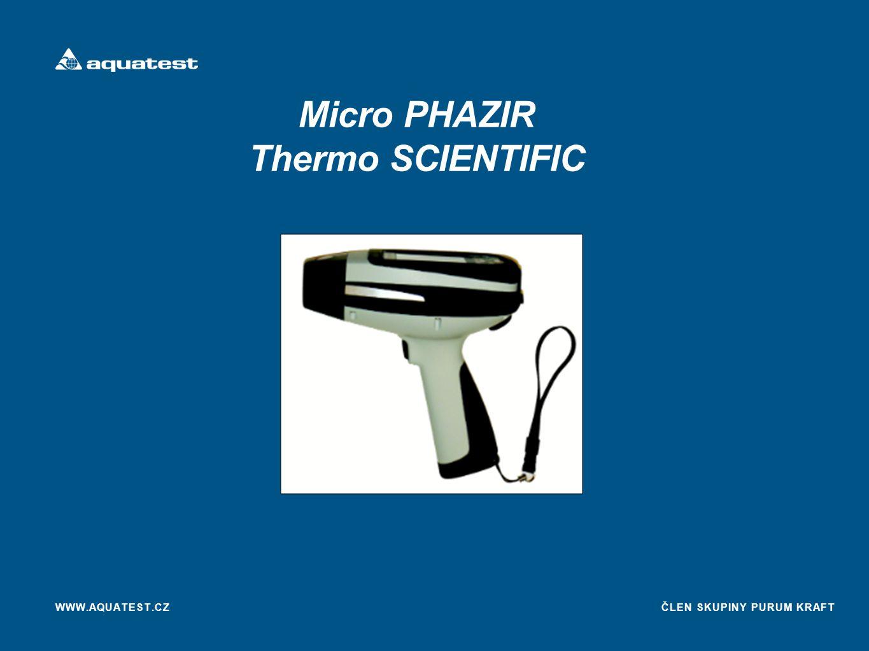 ČLEN SKUPINY PURUM KRAFT Micro PHAZIR Thermo SCIENTIFIC WWW.AQUATEST.CZ