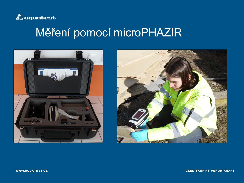 ČLEN SKUPINY PURUM KRAFT Měření pomocí microPHAZIR WWW.AQUATEST.CZ