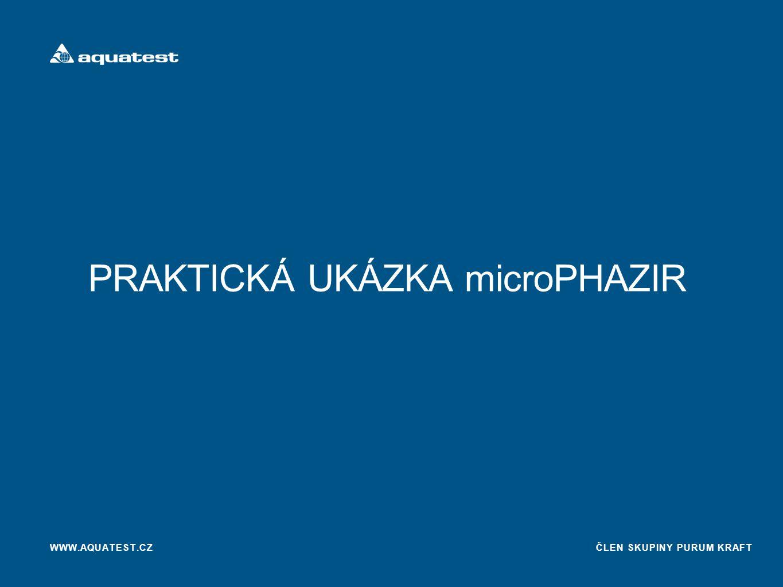 ČLEN SKUPINY PURUM KRAFT PRAKTICKÁ UKÁZKA microPHAZIR WWW.AQUATEST.CZ