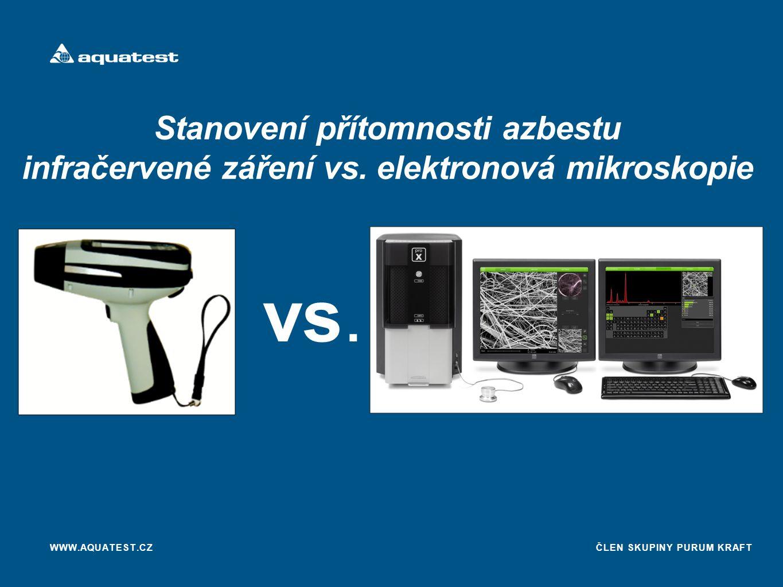 ČLEN SKUPINY PURUM KRAFT Stanovení přítomnosti azbestu infračervené záření vs.