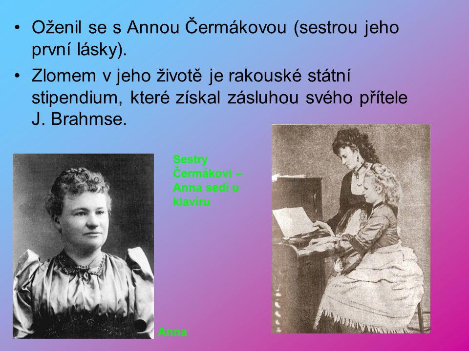 Antonín Dvořák 8.9. 1841 – 1.5. 1904 Narodil se v Nehlhozevsi do řeznické rodiny. Velmi chudé podmínky života. Otec chtěl aby Antonín byl řezníkem. On