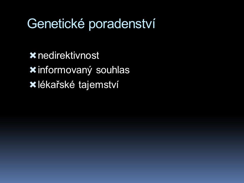 Genetické poradenství  nedirektivnost  informovaný souhlas  lékařské tajemství