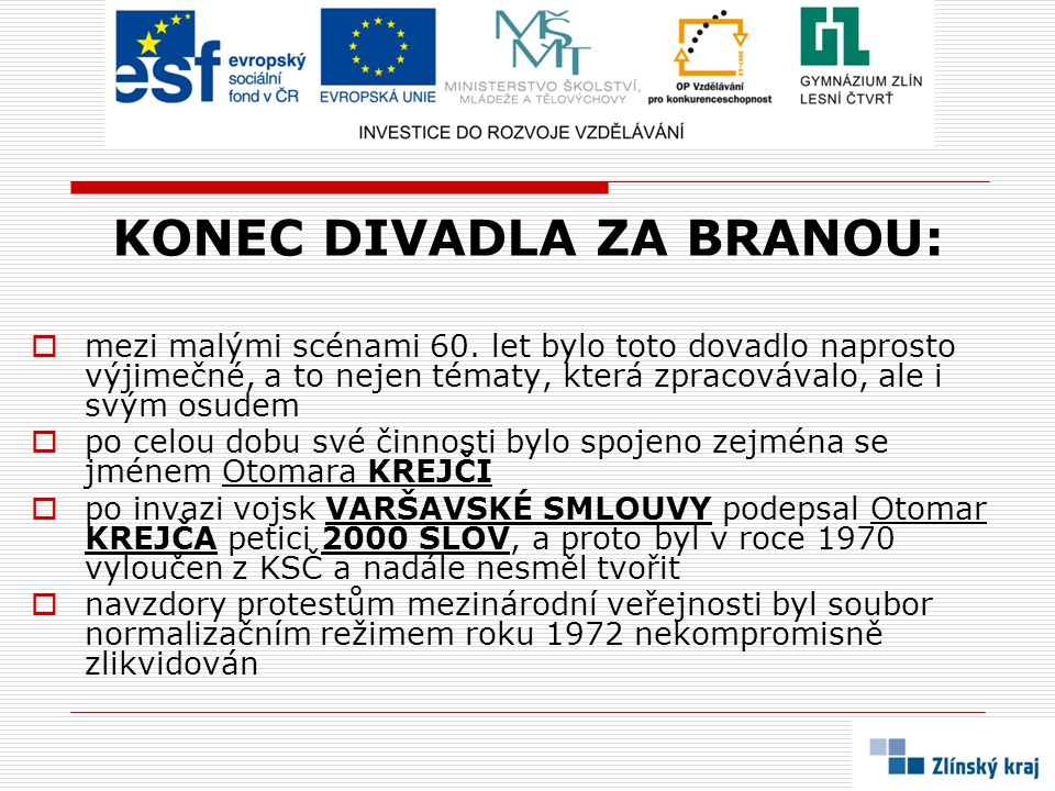 NĚCO K ZAMYŠLENÍ:  Který slavný režisér DZB založil .