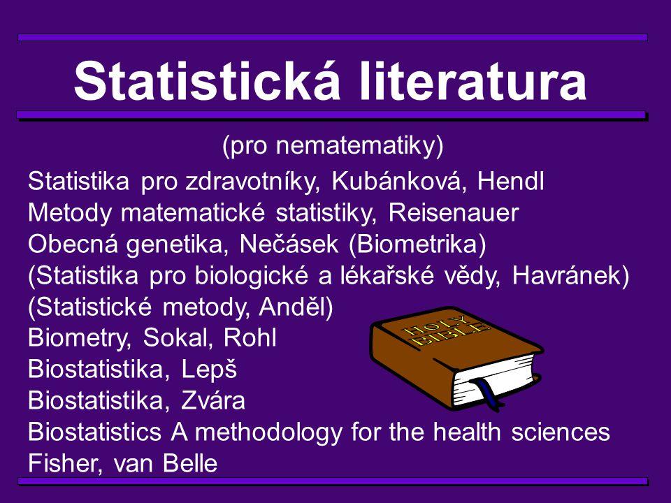 Rada 9 Líná huba holý neštěstí (Statistici to umí přeci jenom lépe...)