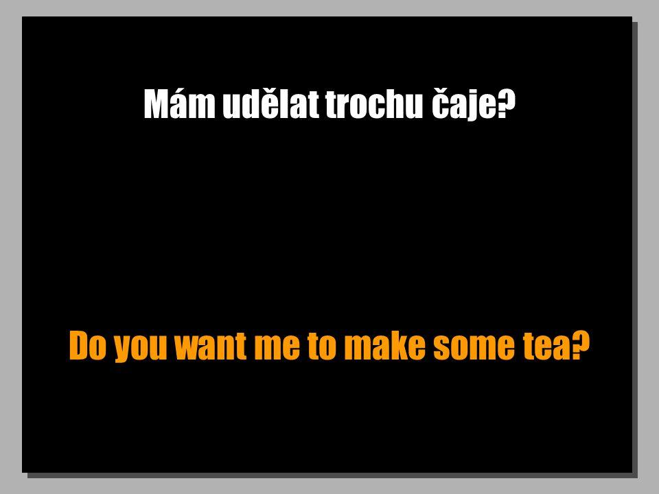 Mám udělat trochu čaje Do you want me to make some tea