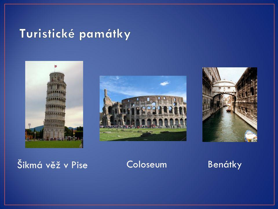 Šikmá věž v Pise ColoseumBenátky