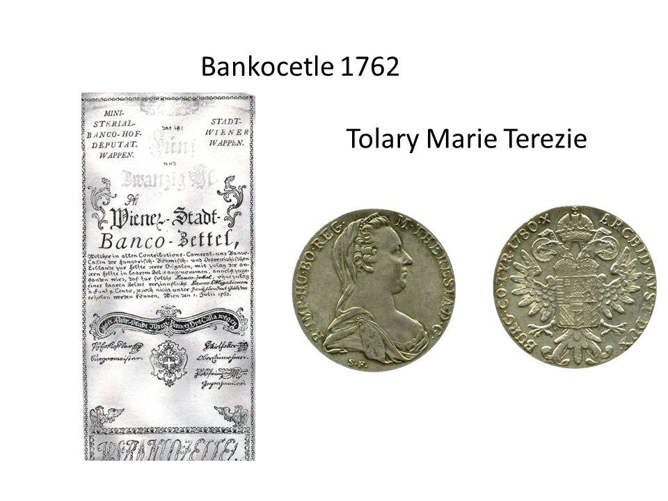 Bankocetle 1762 Tolary Marie Terezie