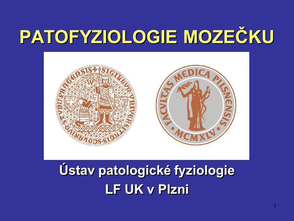 1 PATOFYZIOLOGIE MOZEČKU Ústav patologické fyziologie LF UK v Plzni Ústav patologické fyziologie LF UK v Plzni
