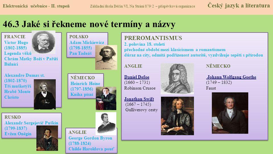 46.3 Jaké si řekneme nové termíny a názvy Elektronická učebnice - II.