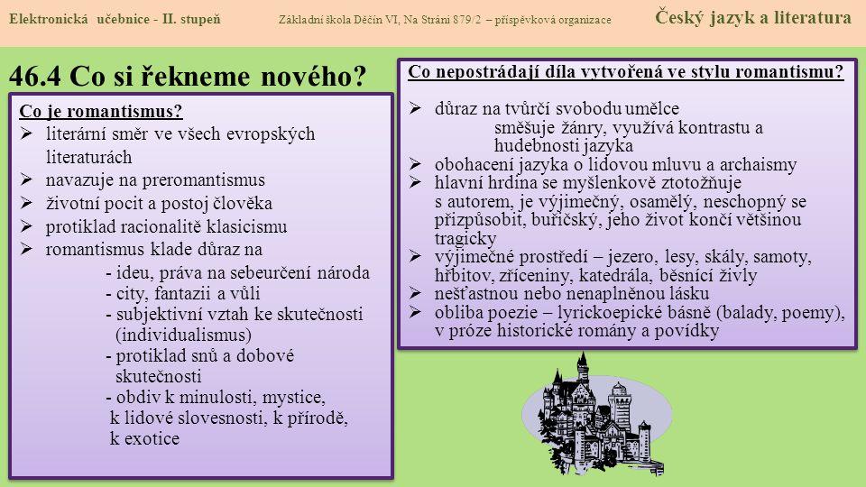 46.4 Co si řekneme nového.Elektronická učebnice - II.
