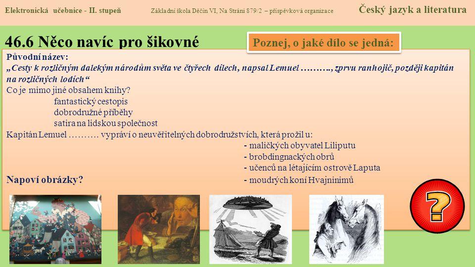 46.6 Něco navíc pro šikovné Elektronická učebnice - II.
