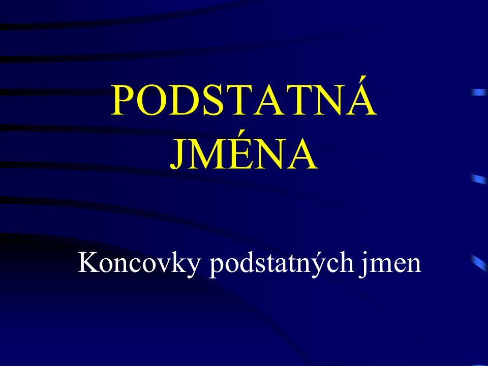KONCOVKY PODSTATNÝCH JMEN -ment-ion-er -ness-ing
