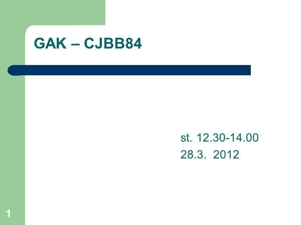 CJBB84 1 GAK – CJBB84 st. 12.30-14.00 28.3. 2012