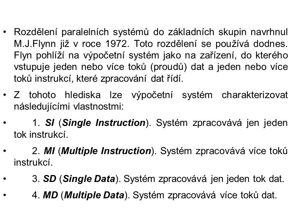 Rozdělení paralelních systémů do základních skupin navrhnul M.J.Flynn již v roce 1972. Toto rozdělení se používá dodnes. Flyn pohlíží na výpočetní sys
