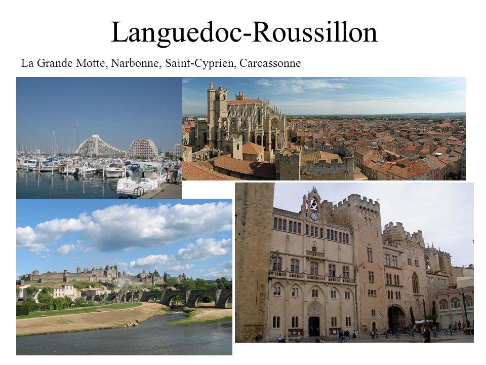 Languedoc-Roussillon La Grande Motte, Narbonne, Saint-Cyprien, Carcassonne