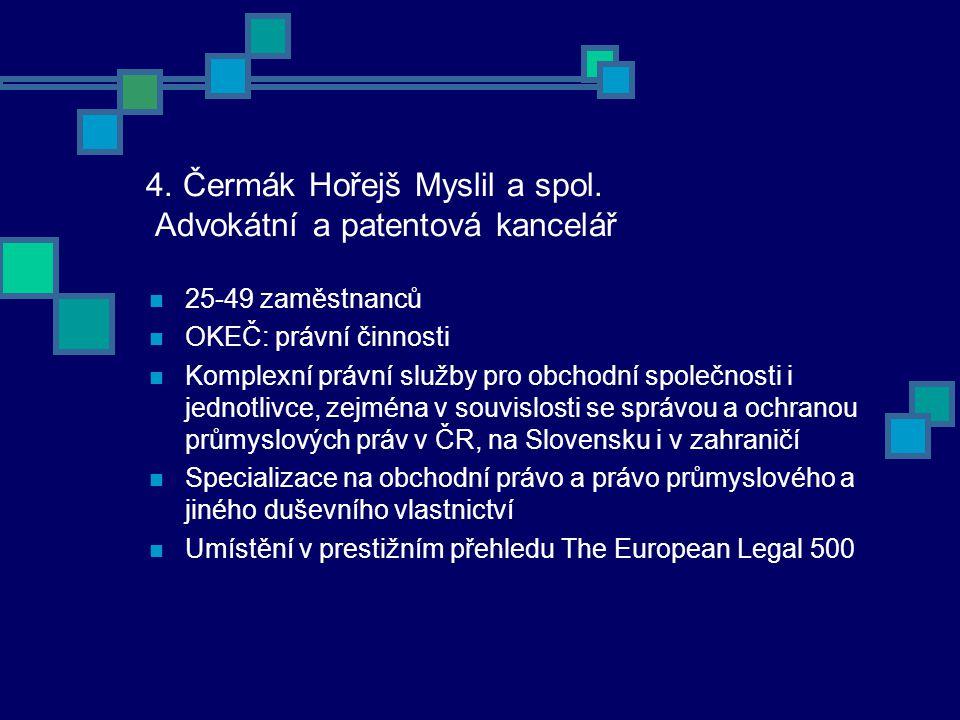4. Čermák Hořejš Myslil a spol.