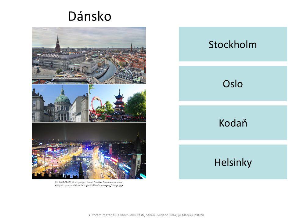 Autorem materiálu a všech jeho částí, není-li uvedeno jinak, je Marek Odstrčil. Dánsko Stockholm Helsinky Oslo Kodaň [cit. 2012-02-17]. Dostupný pod l